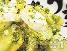Рецепта Салата от пресни краставици с яйца